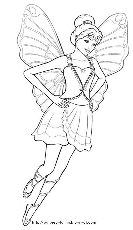 Barbie Coloring Pages Barbie Fairy Mariposa Coloring Fairy Coloring Barbie Coloring Pages Barbie Coloring