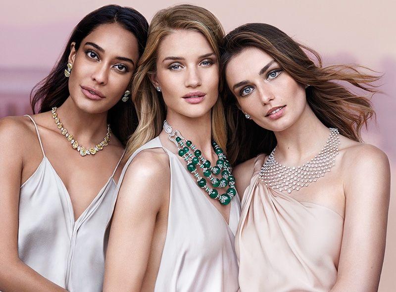 Rosie Huntington-Whiteley Sparkles in New Jewelry Ads
