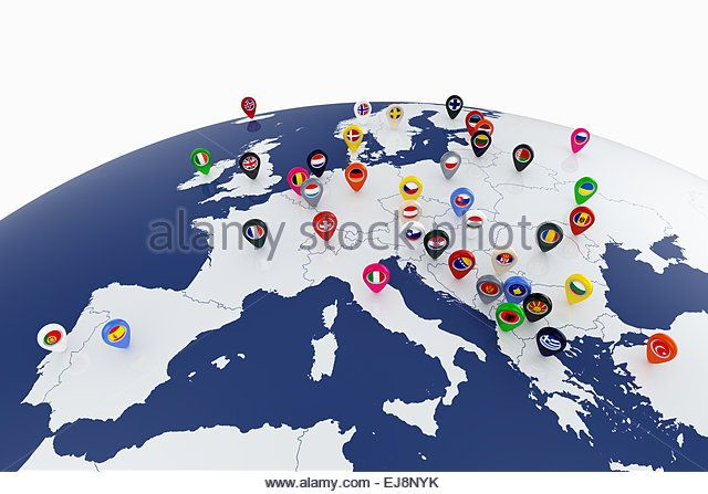 3d render of europe map with countries flags location pins stock 3d render of europe map with countries flags location pins stock image europa pinterest flags 3d and illustrations gumiabroncs Images