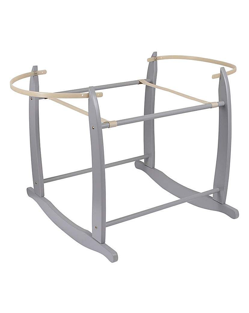 Clair De Lune Deluxe Rocking Moses Basket Stand with Color Grey Free Delivery...