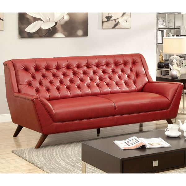 $1099 Furniture of America Valentino Mid-Century Modern Bonded ...