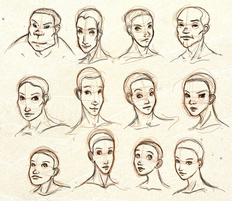 Face Shapes By Ixisstar On Deviantart Drawing Face Shapes Male Face Shapes Face Drawing