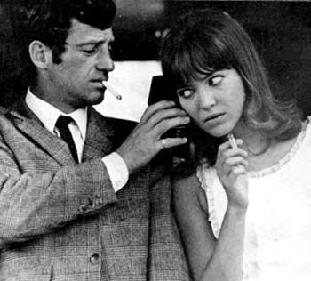 Pierrot le fou,1965,directed by Jean-Luc Godard, starring Anna Karina and Jean-Paul Belmondo.