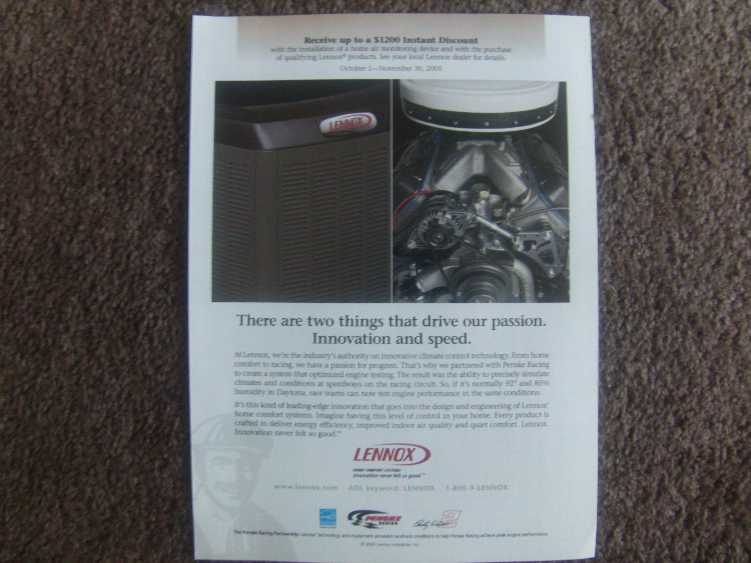 lennox home comfort system. lennox home comfort system magazine ad (rare) low internet price of $2.99 with the