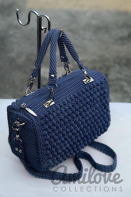 Red Bobble Stitch Hand Bag pattern by Indri Safitri | Stricken ...