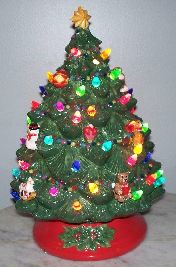 vintage estate ceramic lighted christmas tree by 1pigbeading 3999 christmas tree base xmas trees
