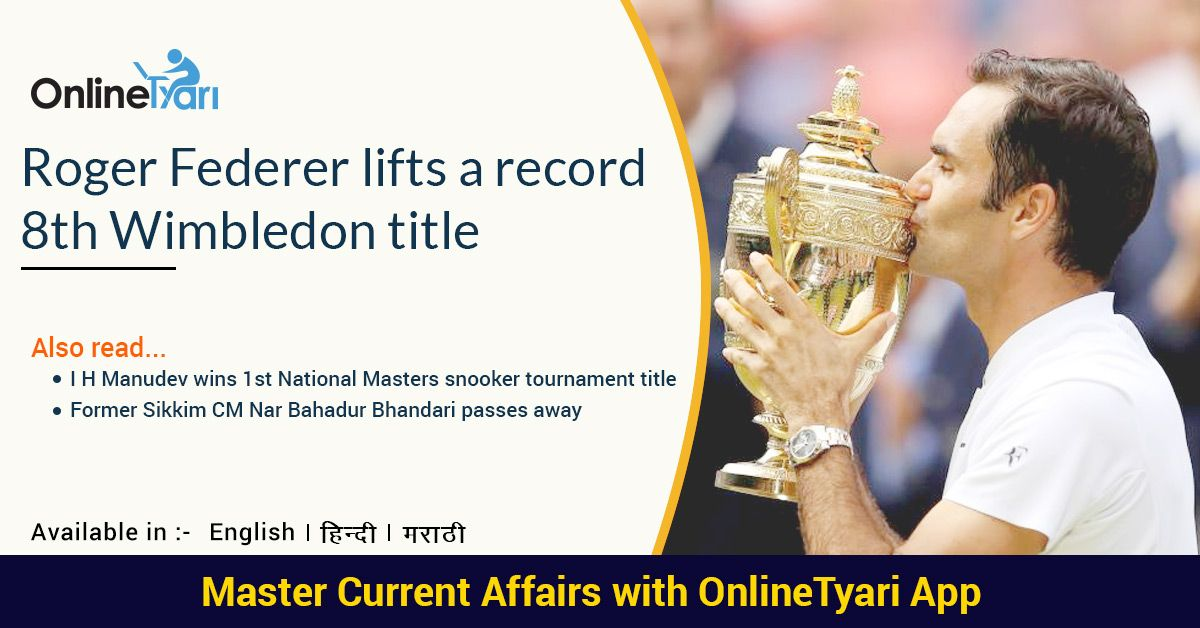 Roger Federer beats Marin Cilic to win record 8th