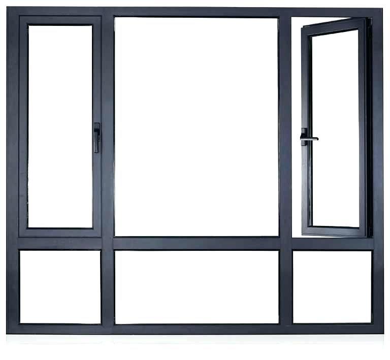 Black Window Frames Custom Anodized Grey Aluminium Casement White Walls House Black Window Frames Windows Window Frames Black Window Frames
