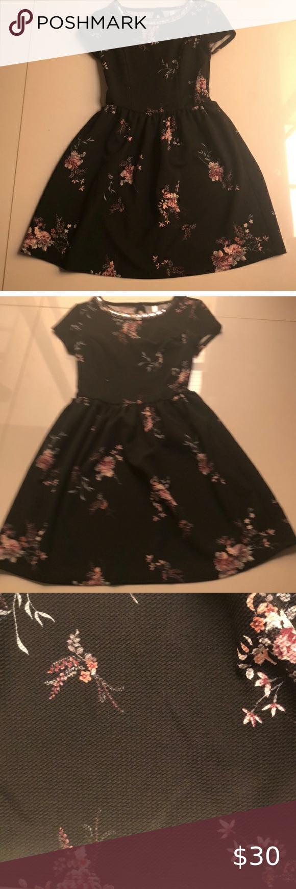 Pretty Black Floral Mini Dress Mini Dress Beautiful Black Dresses Gray Mini Dresses [ 1740 x 580 Pixel ]