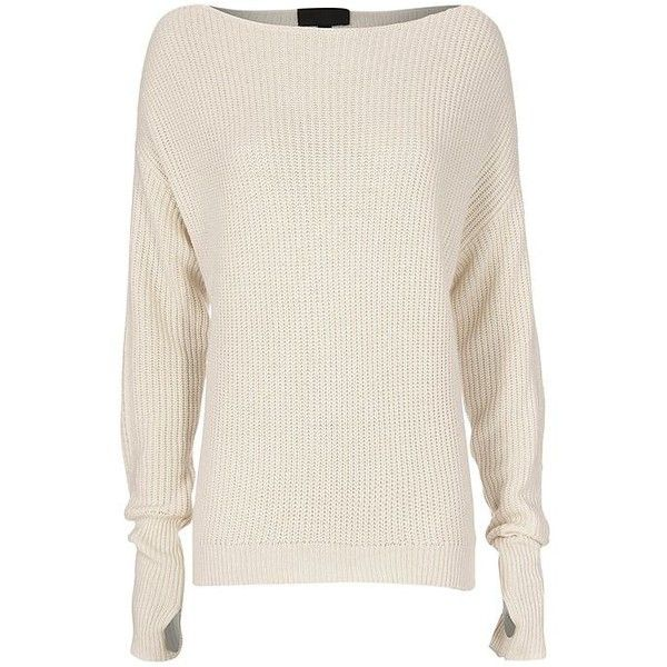 f66438c847b2e1 Intermix Women s Oversized Off-The-Shoulder Sweater ( 275) ❤ liked on  Polyvore featuring tops