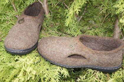 0bf186441 Обувь ручной работы. Валяные мужские туфли