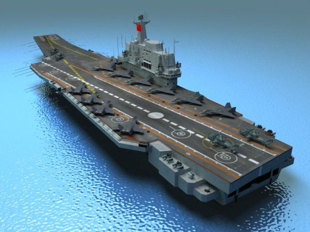 Liaoning Aircraft Carrier 3D Model .max .c4d .obj .3ds