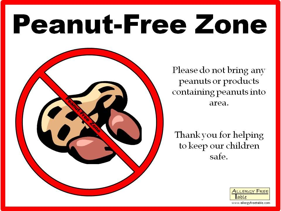 Peanut Sign for classroom if I have a student with the
