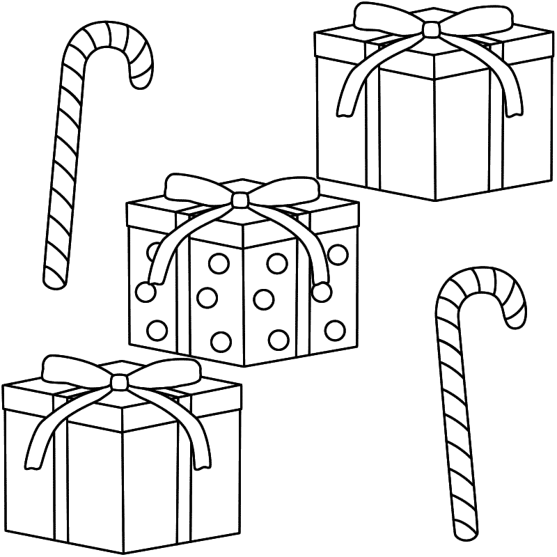 coloring page christmas christmascandy - Christmas Candy Coloring Pages