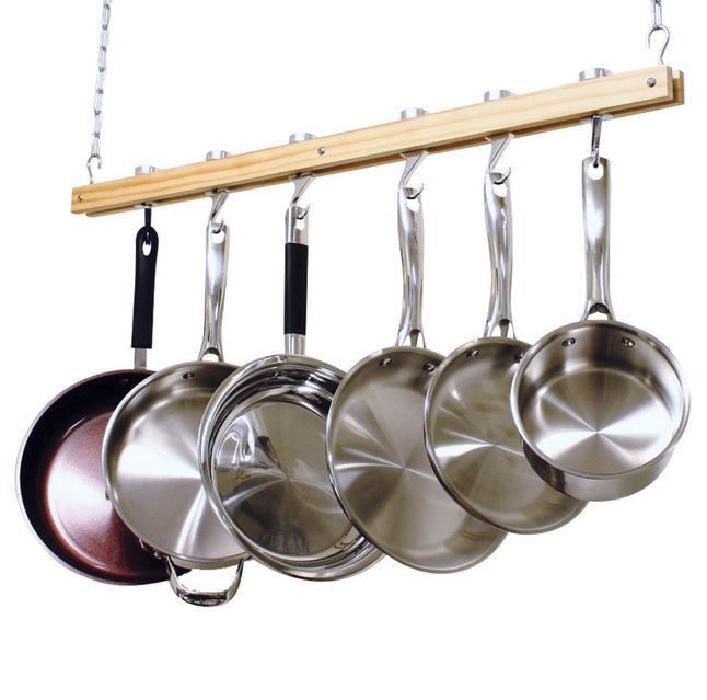 Hanging Pot Rack Pan Hanger Cookware Organizer Pots Pans Kitchen