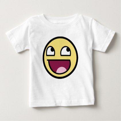Smiling Emoji Baby T-Shirt - baby gifts giftidea diy ...