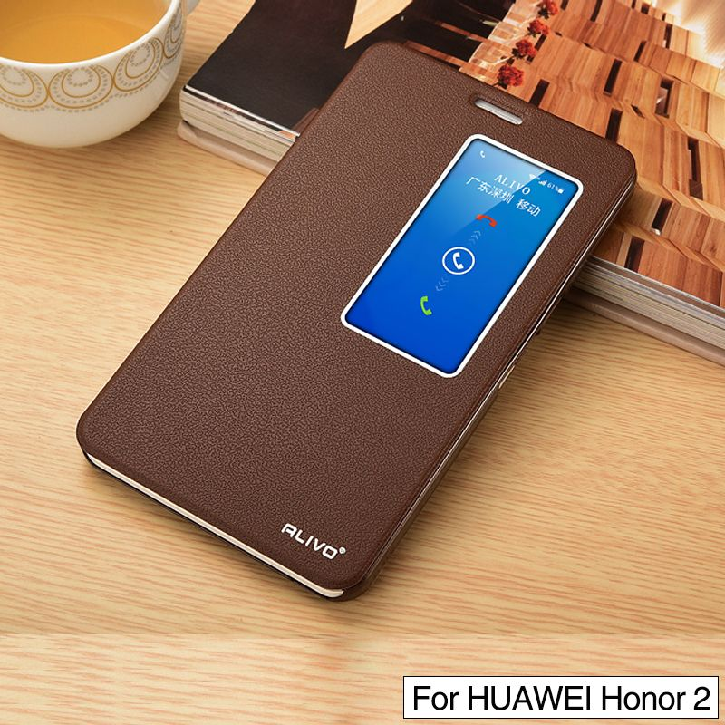 PU Leather Case for huawei honor X2 Luxury Flip Phone Coque stand ...