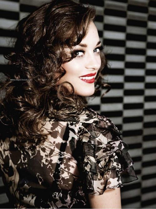 Love this hair! Marion Cotillard