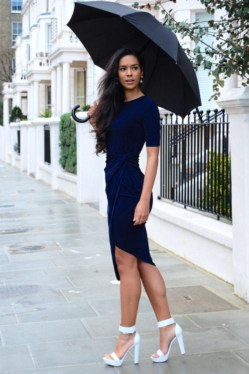 f1ff97c81fedd Pin by Lookastic on Chic Dresses | Dresses, Navy bodycon dress, Fashion