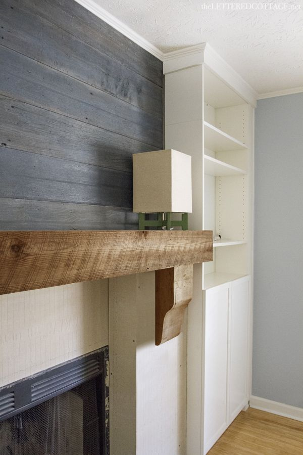 Fireplace Makeover - Reclaimed Wood Mantel | Mantels, Wood mantels ...
