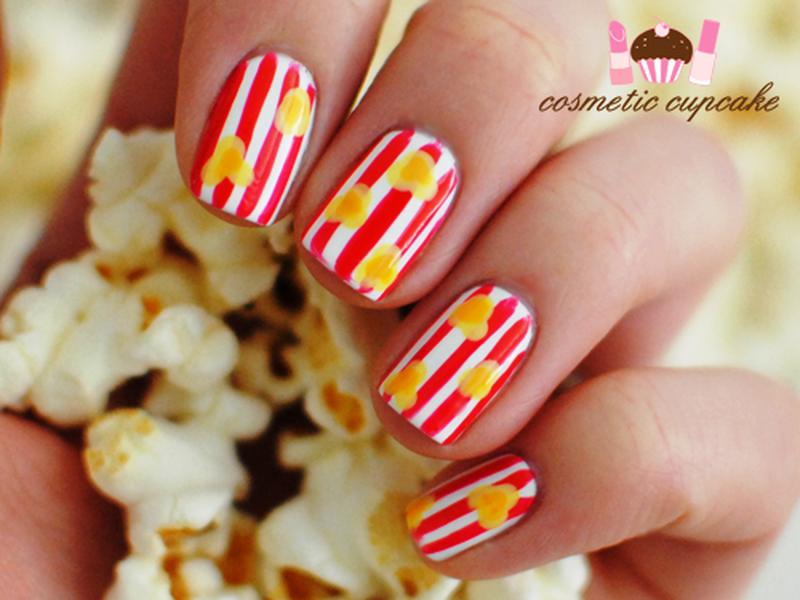 Popcorn Nail Art Nails Pinterest Popcorn