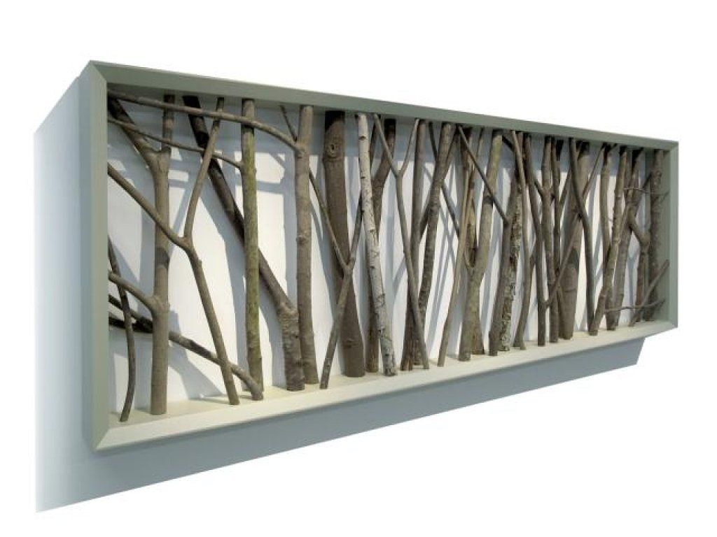 cuadro de troncos   Decorar tu casa, Troncos y Es facil