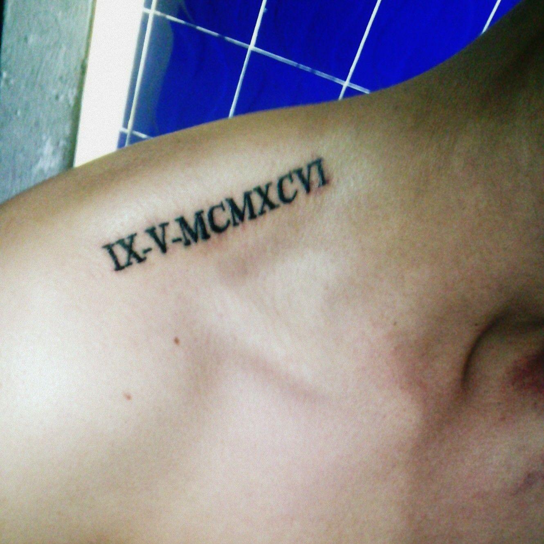 Tatto De Fecha De Nacimiento En Números Romanos Idea Tatto Life