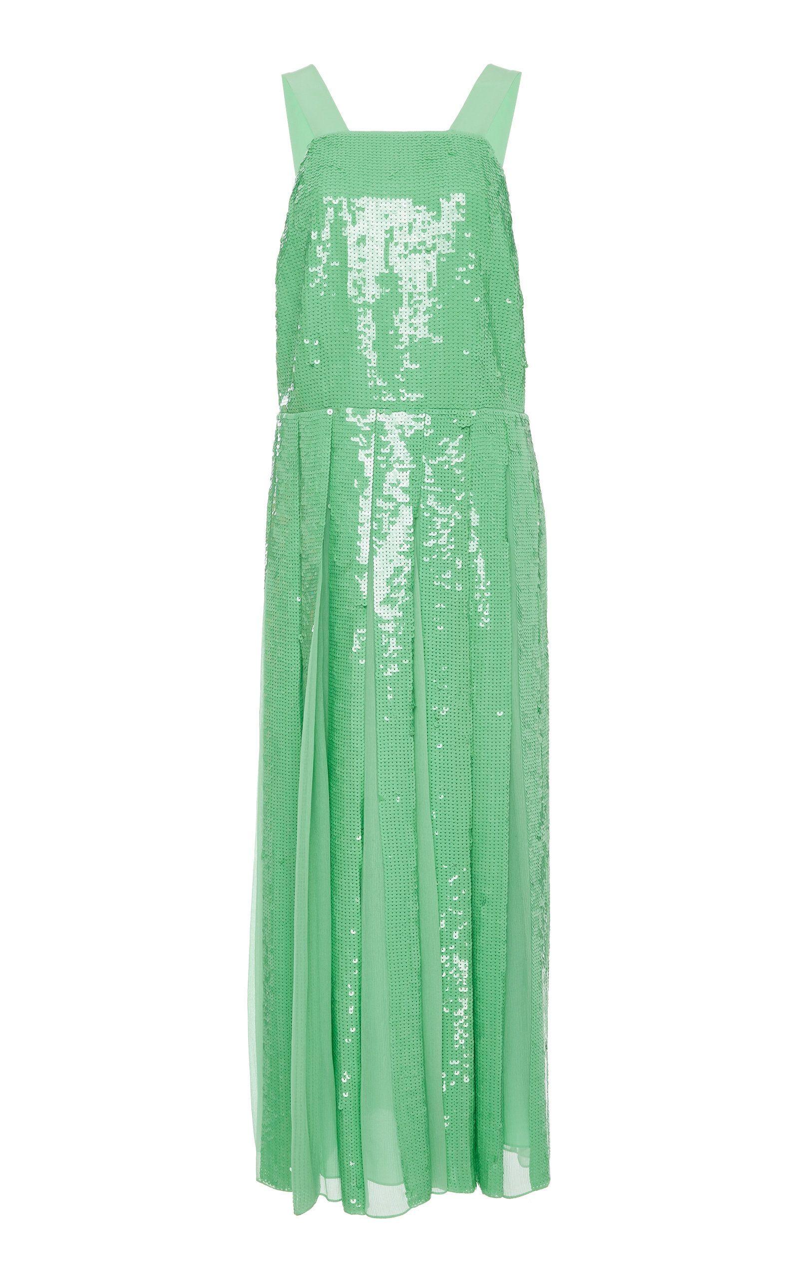 Sequin Overall Dress By Tibi Moda Operandi Overall Dress Dresses Fashion [ 2560 x 1598 Pixel ]