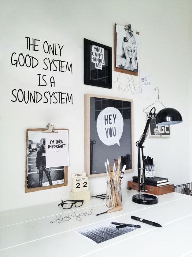 The only good system is a soundsystem Wandsticker Office designs
