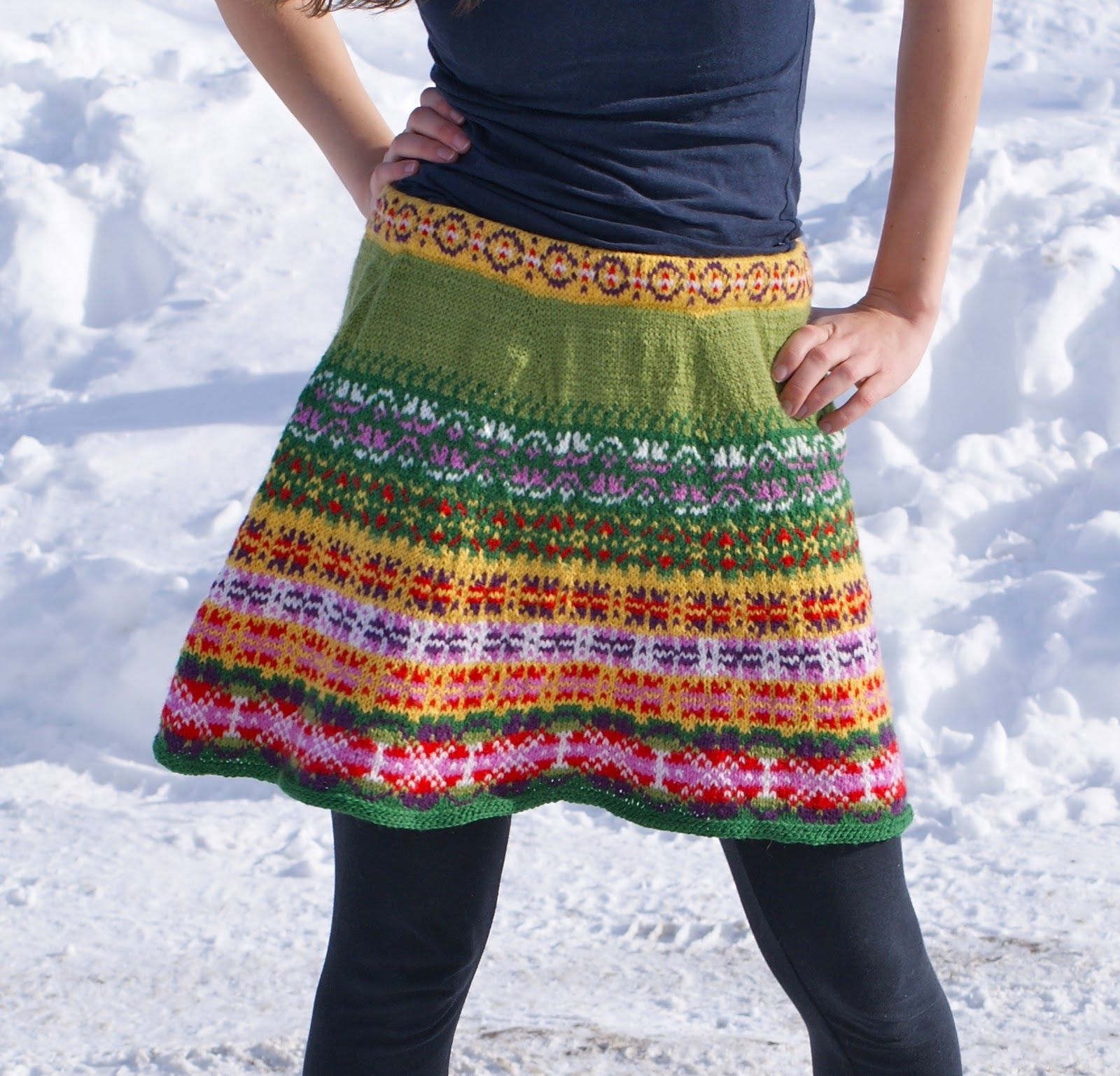 Suprt Cute Knitted Prairie Skirt | Knitting LOVE! | Pinterest ...