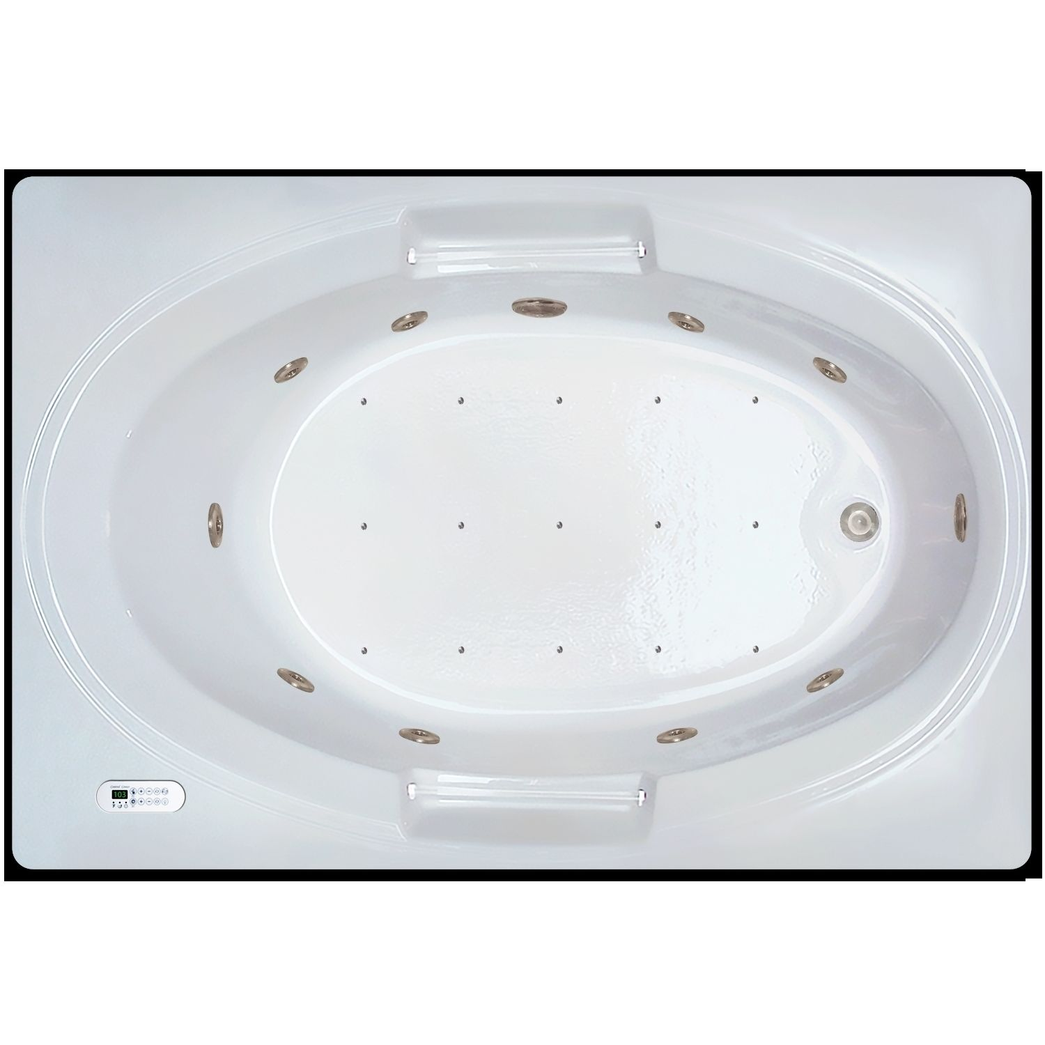 Signature Bath White Acrylic 60-inch x 42-inch x 18-inch Drop-in ...
