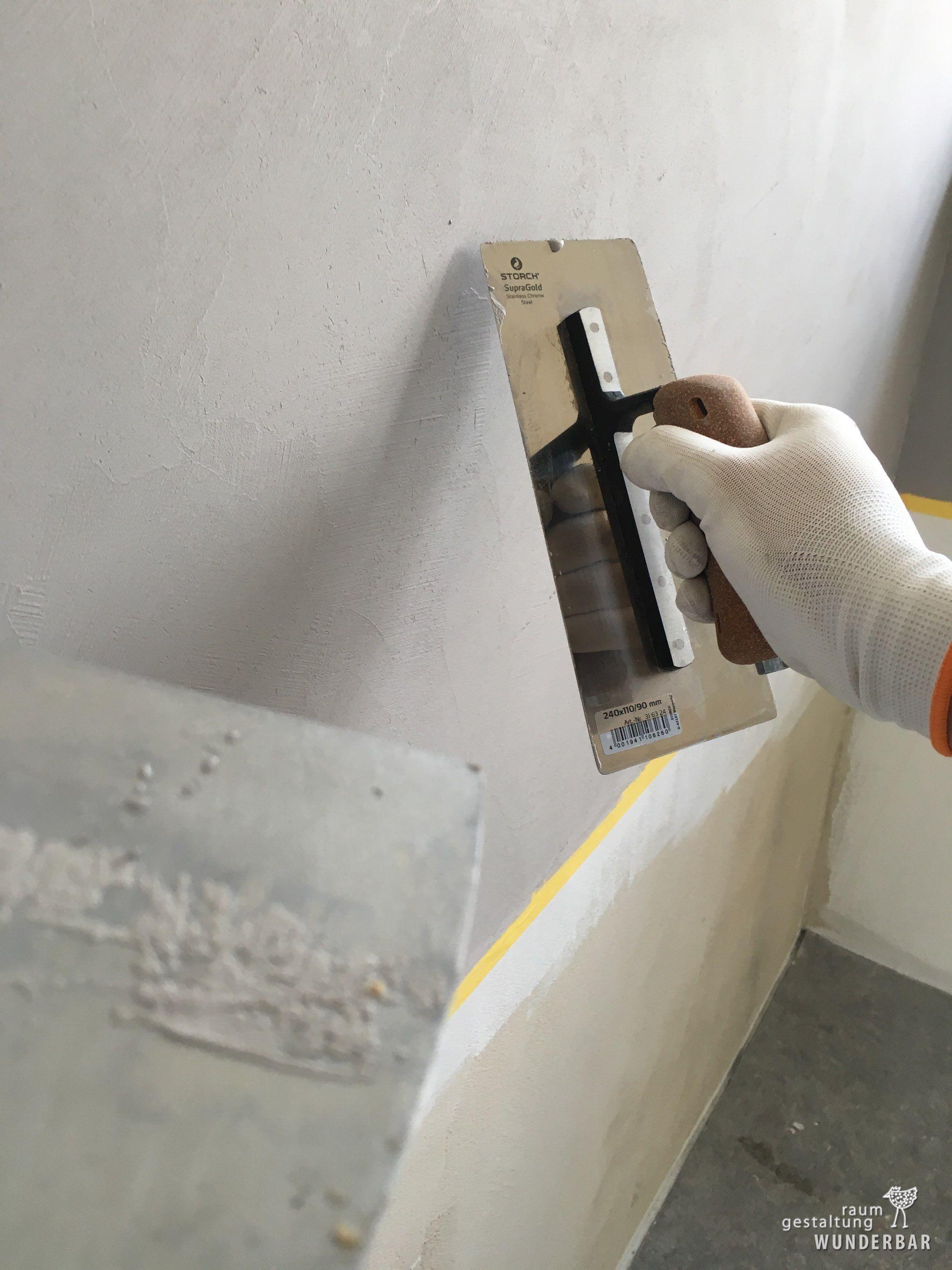Making Of Naturliche Grautone Kuchenruckwand Wolfsgrau In