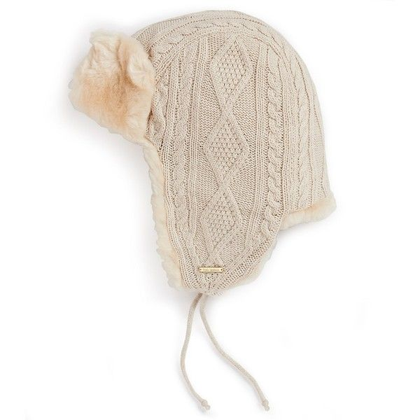 e1efe909348 Tory Burch Cable Knit Trapper Hat  175 Trapper Hat Womens