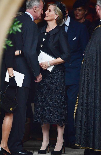 British Royal Family attend Countess Mountbatten's funeral