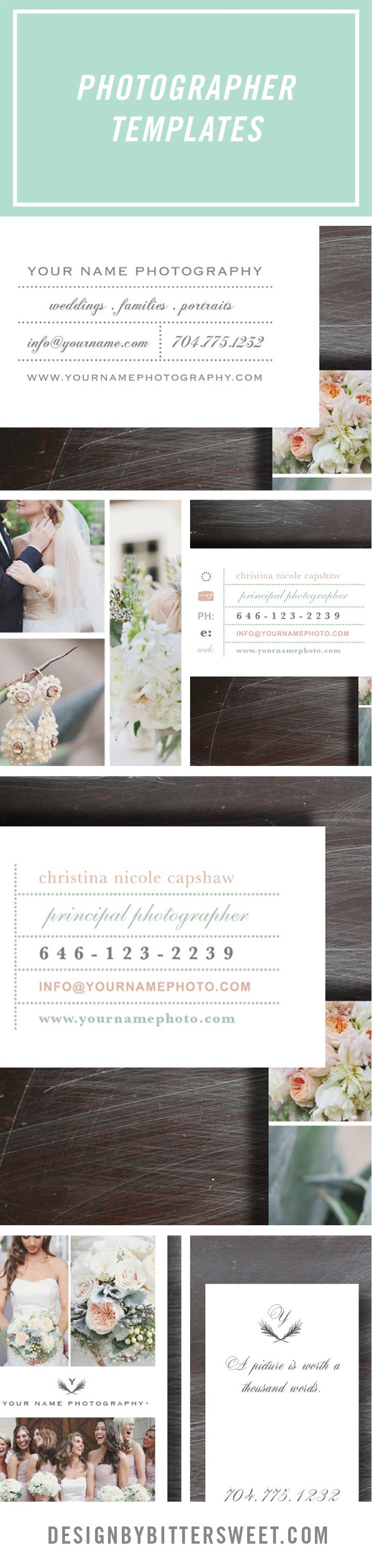 card templates for wedding invitation%0A Business cards for photographers  Wedding photography business card   Business card template