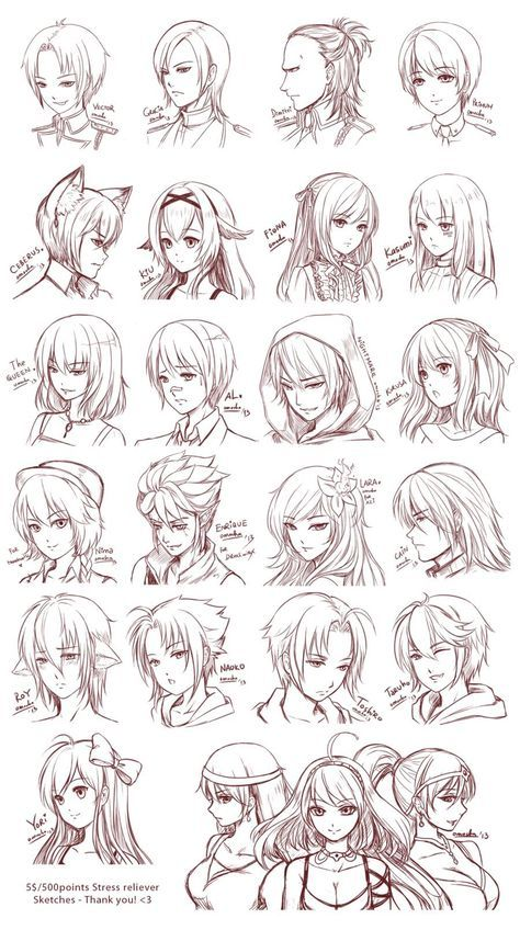 Photo of Hair Drawing Manga Character Design References Ideas