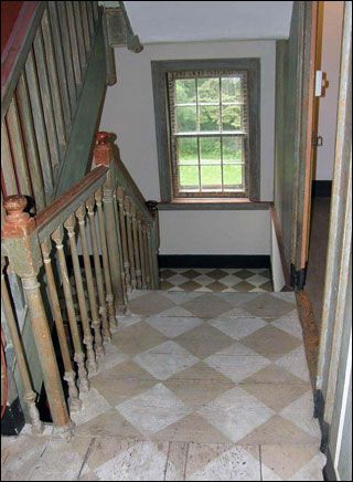 Painted Colonial Floors Painted Floor Boards In A House