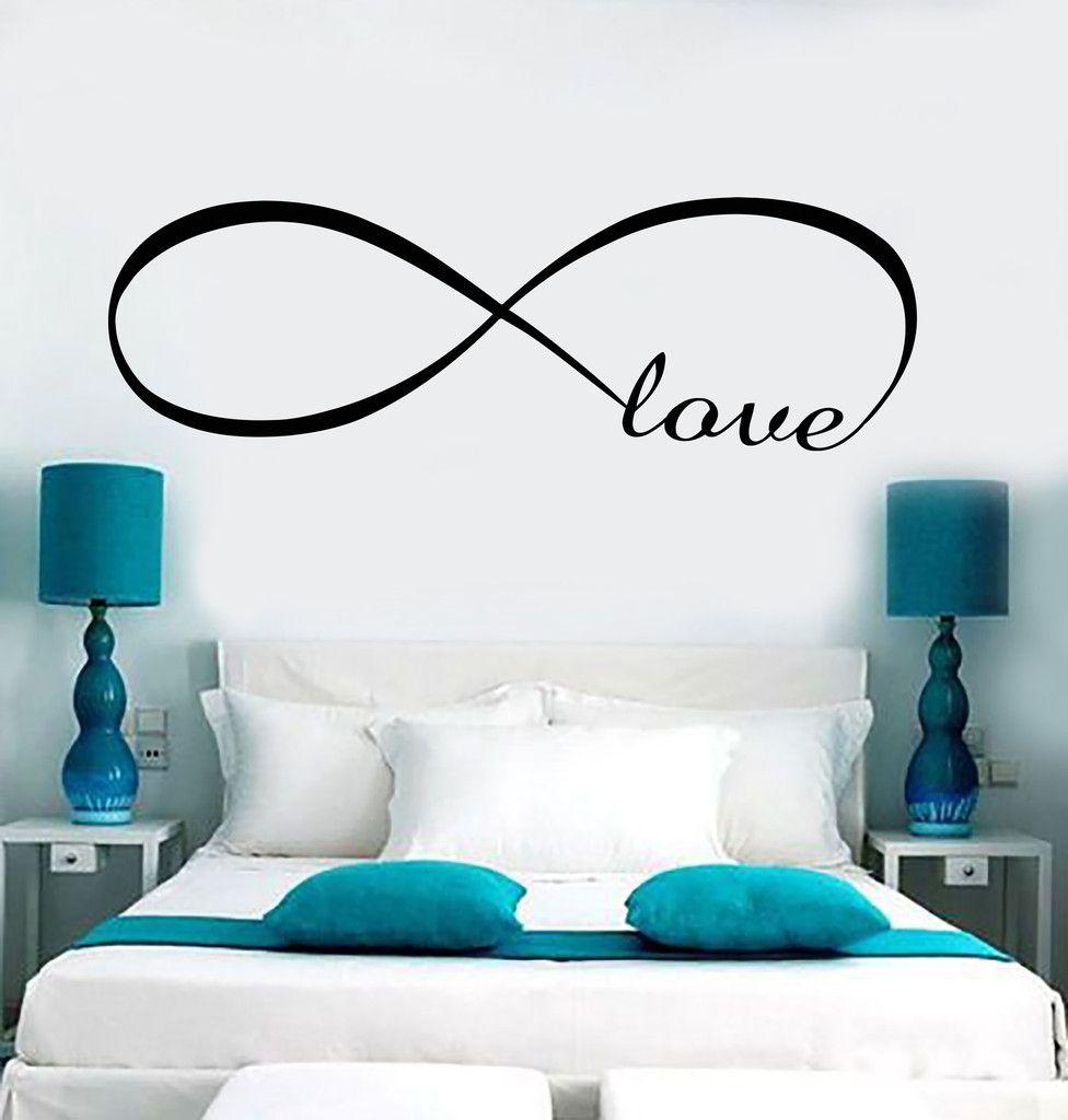 Decal Wall Vinyl Love Infinity Woman Girl Room Romantic