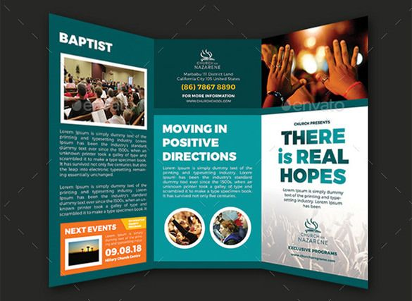 church brochure templates free