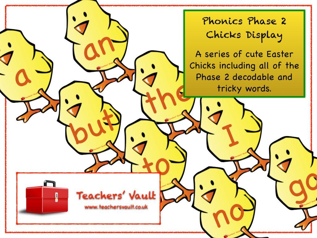 Phonics Phase 2 Chicks Display