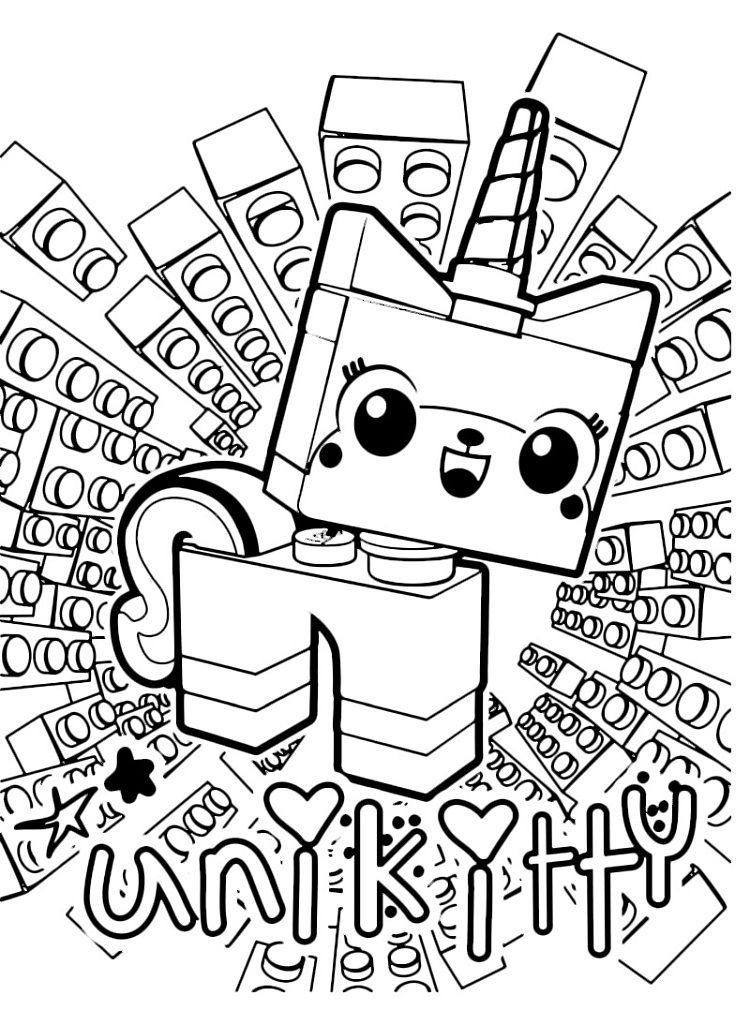 Unikitty Printable Coloring Pages Lego Coloring Pages Lego Movie Coloring Pages Unicorn Coloring Pages