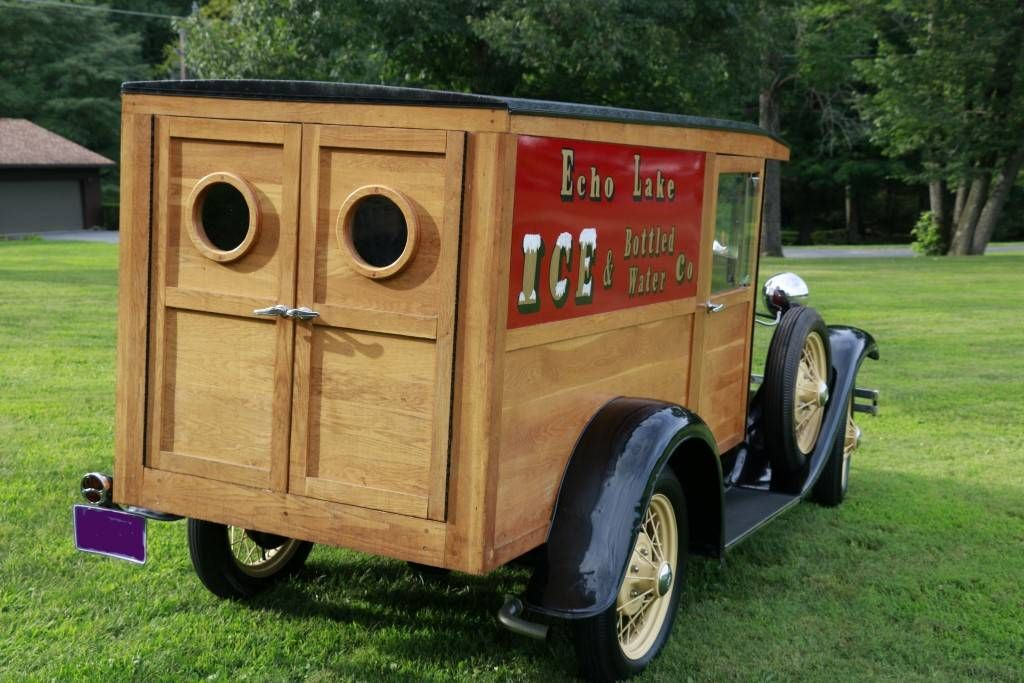 1931 Ford Model A Wood Body Delivery Truck Car Tent Panel Truck