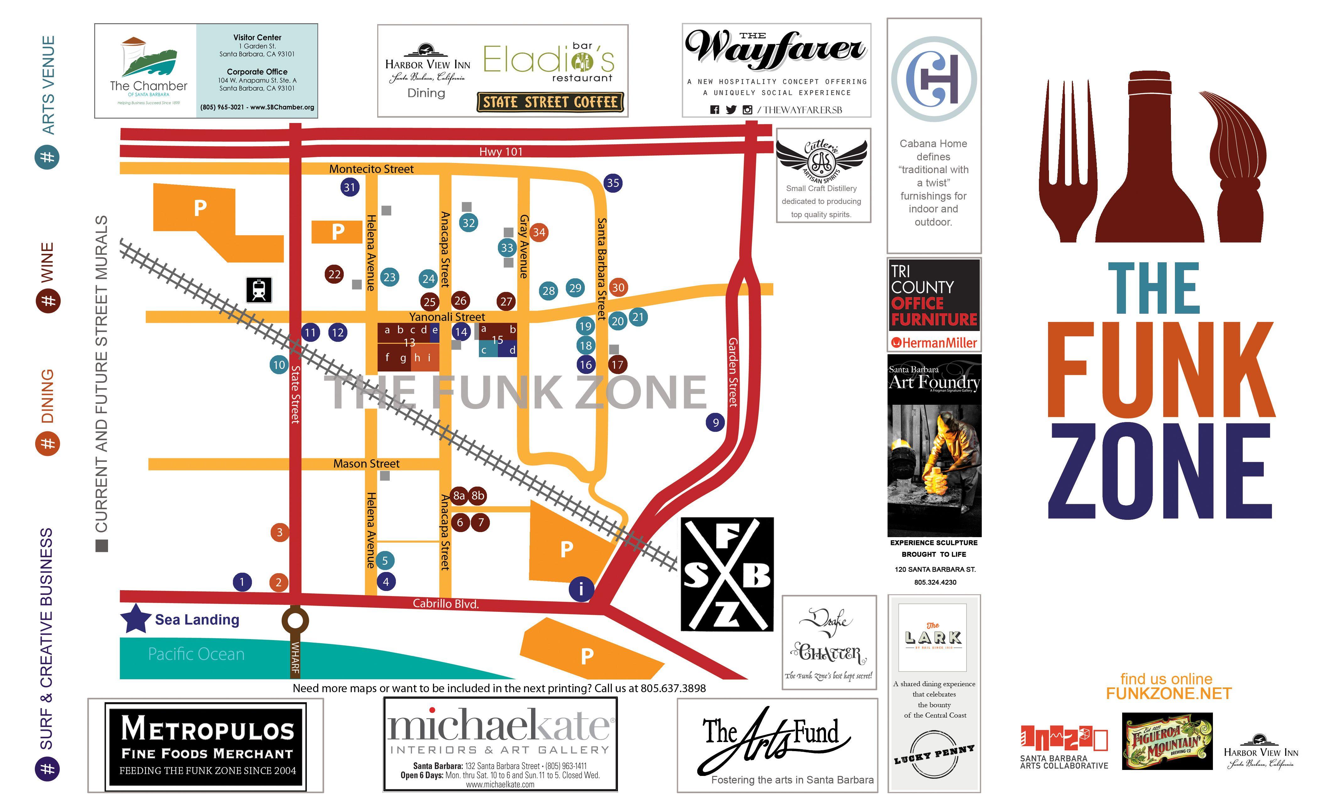 Funk Zone Map 2015- Santa Barbara   Travel Plans in 2019 ... Santa Barbara Hotel Map on pensacola hotel map, san francisco hotel map, kihei maui hotel map, san luis obispo hotel map, treasure coast hotel map, half moon bay hotel map, corvallis hotel map, dana point hotel map, eugene hotel map, oregon coast hotel map, delano hotel map, lake havasu hotel map, tulsa hotel map, chicago area hotel map, burlingame hotel map, providence hotel map, sunset strip hotel map, san jose hotel map, henderson hotel map, kalamazoo hotel map,
