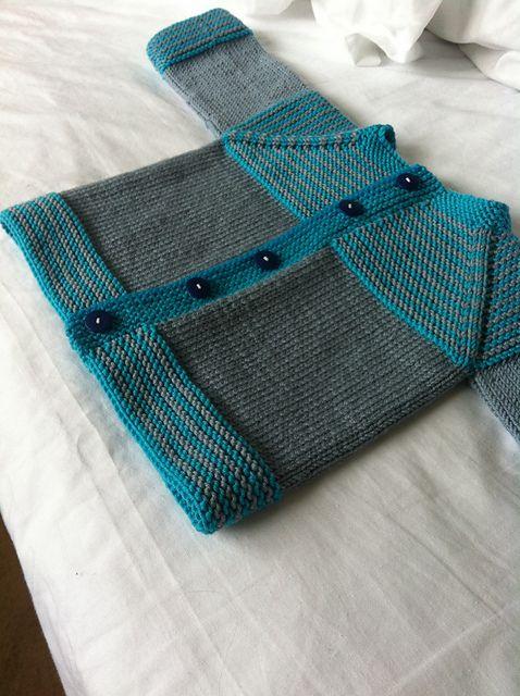 Photo of garter yoke baby cardi pattern by Jennifer Hoel