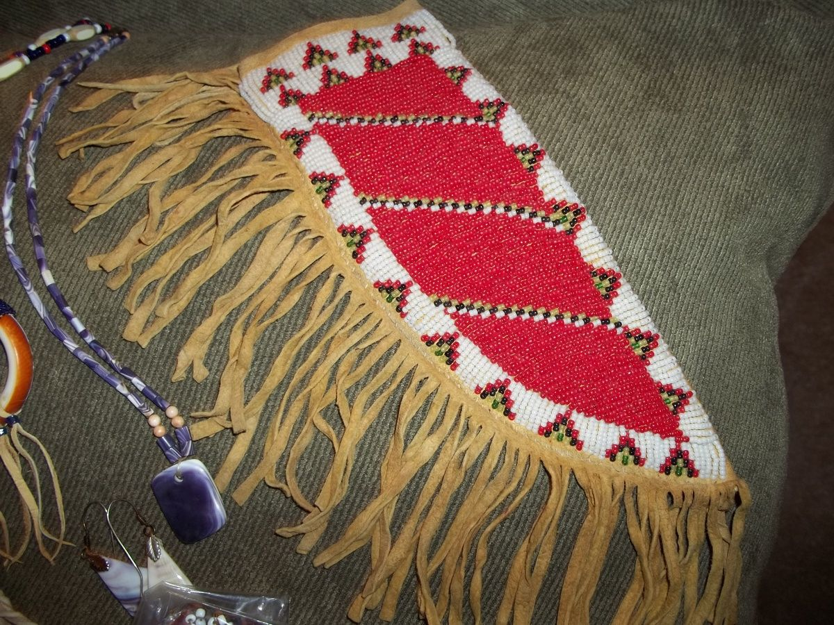 Knife Sheath Native American Beadwork Native Beadwork