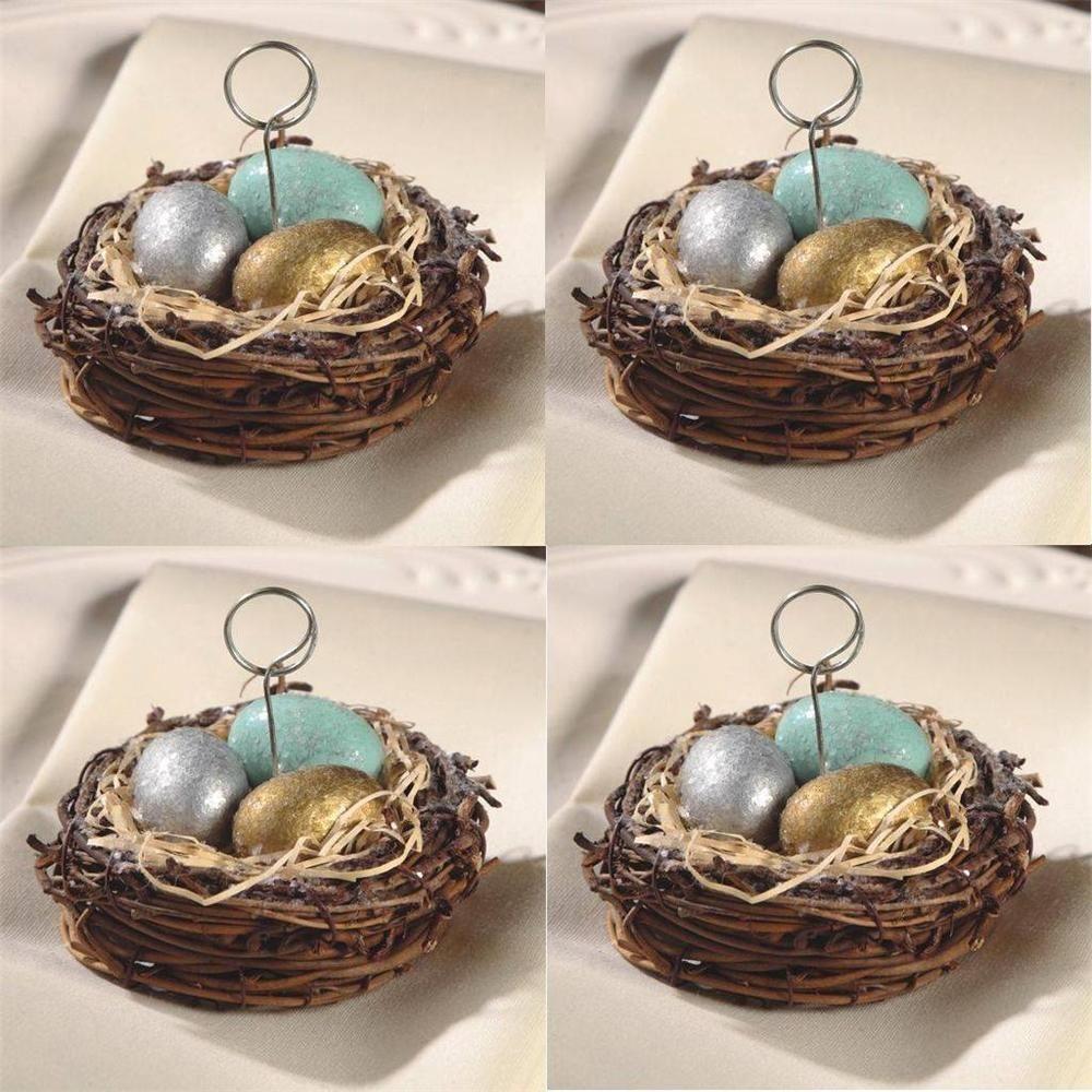 Bethany lowe easter spring 4 bird nest metallic ornament