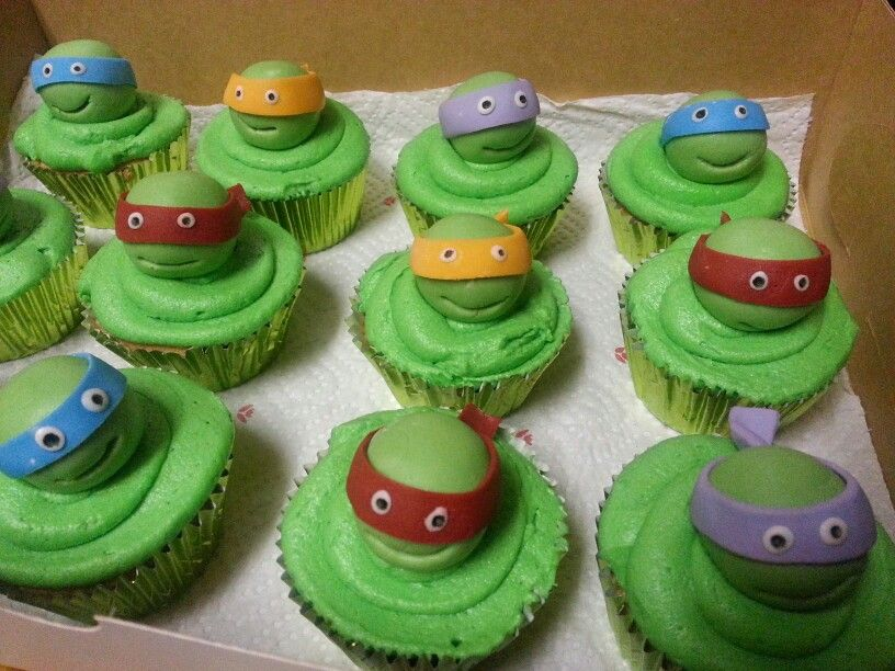 How To Make Tmnt Cupcakes
