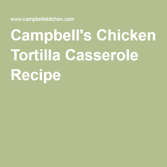 Campbell s easy casserole recipes