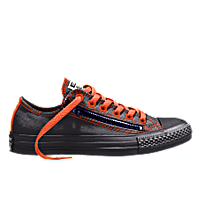 I designed the black Converse Chuck Taylor Double Zip men's shoe with orange trim.