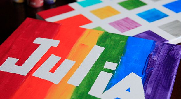 Tape Resist Name Art For Kids Of All Ages Kids Watercolor Art